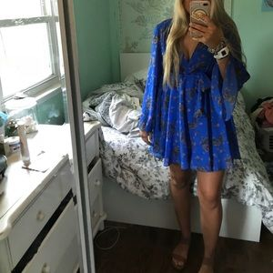 Free people blue floral dress